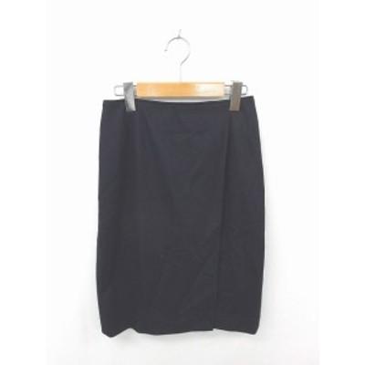 【中古】ユナイテッドアローズ UNITED ARROWS スカート タイト ひざ丈 ウール 無地 シンプル 36 濃紺 ネイビー