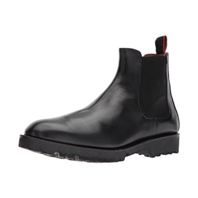 Allen Edmonds Men's Tate Chelsea Boot with Lug Sole, Black Calf, 13 D US【並行輸入品】