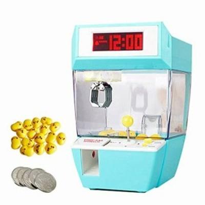 フェリモア 目覚まし時計 デジタル UFOキャッチャー ミニクレーンゲーム 卓上 おもちゃ雑貨 (グリーン)