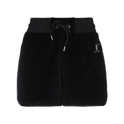 ジャストカヴァリ JUST CAVALLI ショートパンツ ブラック 36 コットン 80% / ポリエステル 20% / アセテート / レーヨン