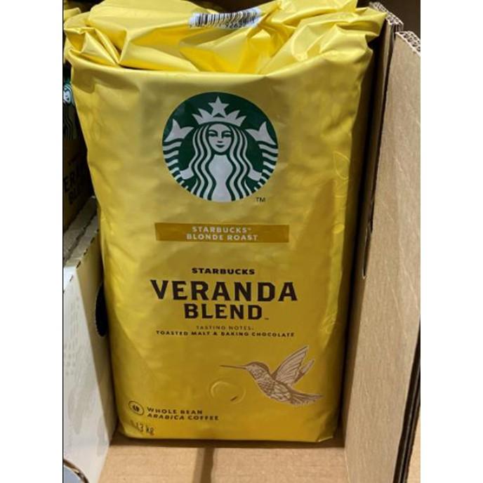 STARBUCKS VERANDA BLEND 黃金烘焙綜合咖啡豆 每包1.13公斤 C648080 COSCO代購