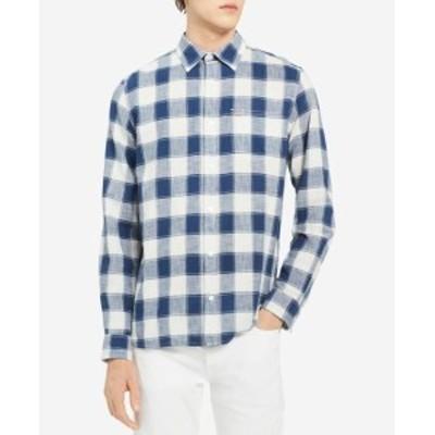 Calvin Klein カルバンクライン ファッション アウター Calvin Klein Jeans NEW Blue Mens Size Small S Plaid Print Button Shirt