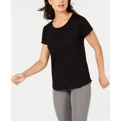 イデオロギー カットソー トップス レディース Mesh-Back T-Shirt, Created for Macy's Noir