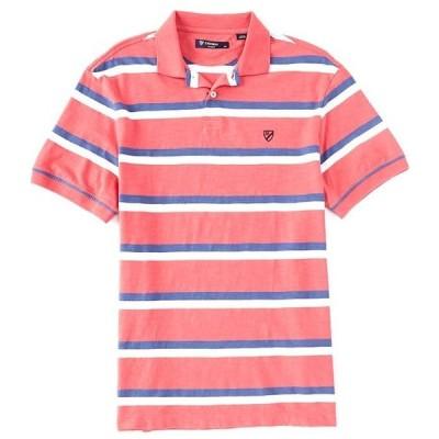 ダニエル クレミュ メンズ シャツ トップス Slub Stripe Short-Sleeve Polo Shirt
