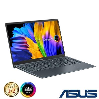 (含微軟365組合) ASUS UM325SA 13.3吋筆電 (R5-5600U/16G/512G SSD/OLED/ZenBook 13/綠松灰)