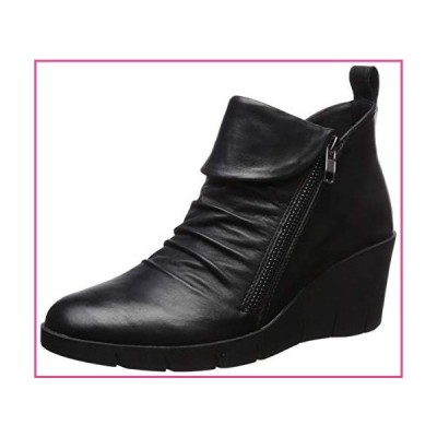 CLIFFS BY WHITE MOUNTAIN Shoes PENWOOD Women's Boot, Black/Leather, 6 M並行輸入品