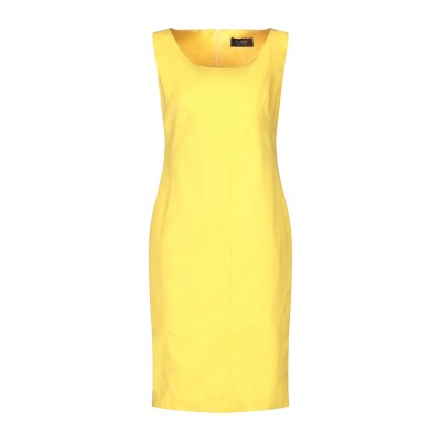 CLIPS ミニワンピース&ドレス イエロー 44 コットン 51% / ナイロン 42% / ポリウレタン 7% ミニワンピース&ドレス