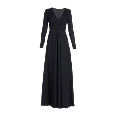 ジョルジオ アルマーニ GIORGIO ARMANI ロングワンピース&ドレス ブラック 40 シルク 100% ロングワンピース&ドレス