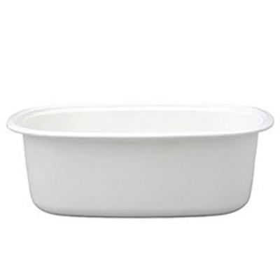 野田琺瑯 楕円型 洗い桶 WA-O