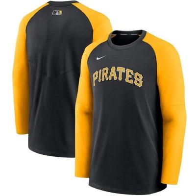 ピッツバーグ・パイレーツ Nike Authentic Collection Pregame Performance Raglan Pullover スウェットシャツ - Black/Gold