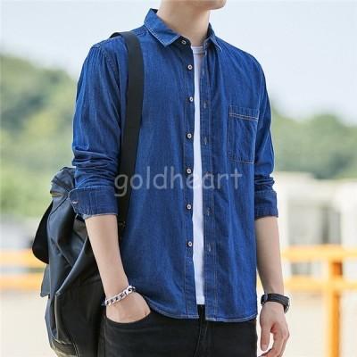 ブラウス メンズ  長袖 春 シャツ トップス Tシャツ カウボーイ 大きいサイズ 30代 40代  オシャレ