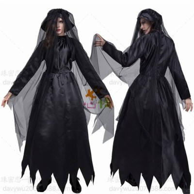 魔女コスプレ ハロウィン 悪魔 巫女 女王 魔女 コスプレ ハロウィン 魔法使い 帽子ベール3点セット仮装 コスチューム ウィッチ 大人 衣装