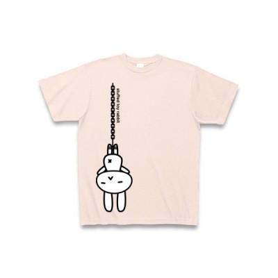 stuffed toy rabbit(吊り下げ04)キャラクター拡大版 Tシャツ Pure Color Print(ライトピンク)