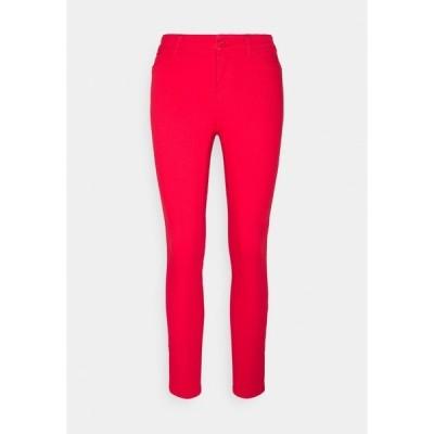 ヴェロモーダ デニムパンツ レディース ボトムス VMHOTSEVEN ZIP PANTS - Jeans Skinny Fit - goji berry