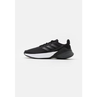 アディダス レディース スポーツ用品 RESPONSE SR - Neutral running shoes - core black/grey six