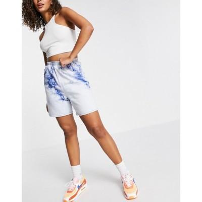 トップショップ Topshop レディース ショートパンツ デニム ボトムス・パンツ denim shorts in tie dye ブライトブルー