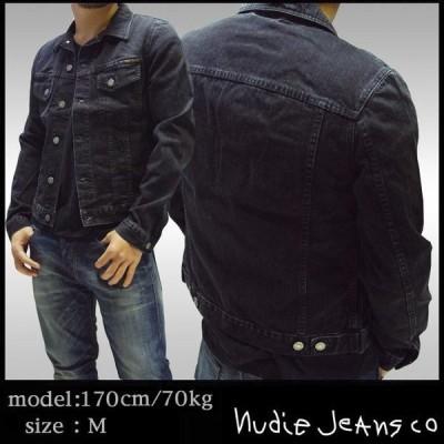 100種類以上品揃え ヌーディージーンズ NUDIE JEANS メンズ デニム ジャケット PERRY ORG BLACK STONE ブラック デニムジャケット アウター ブランド