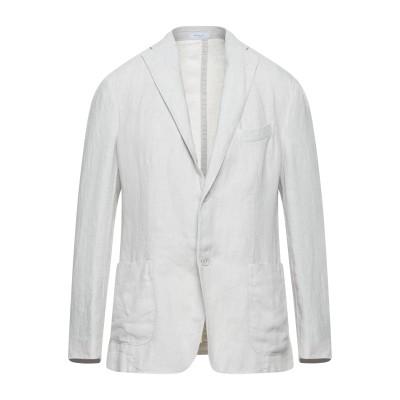 ボリオリ BOGLIOLI テーラードジャケット ライトグレー 52 麻 100% テーラードジャケット