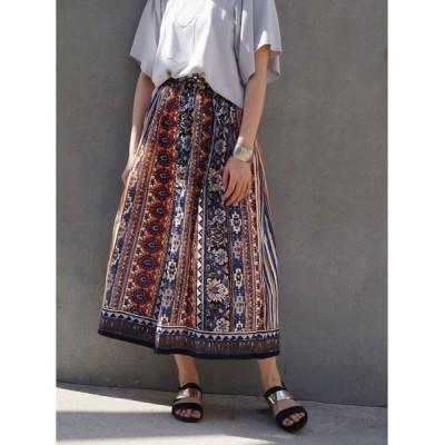 NICOLE / コットンボイルエスニック柄スカート WOMEN スカート > スカート