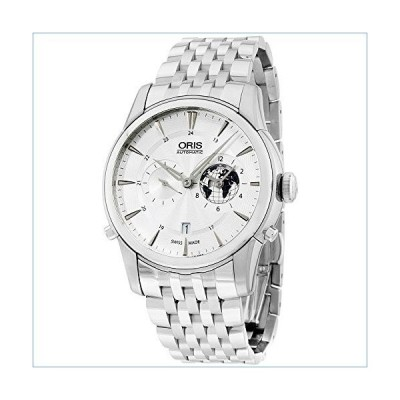 Oris Artelier GMT Automatic Silver White Dial Stainless Steel Mens Watch 690-7690-4081MB並行輸入品