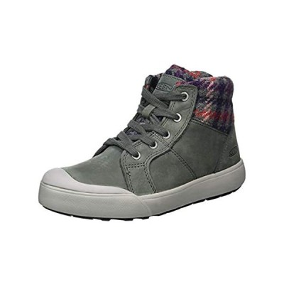 KEEN womens Elena Mid Height Ankle Hiking Boot, Pewter/Drizzle, 7.5 US
