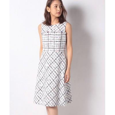 <MISS J(Women)/ミスジェイ>【セットアップ対応】クラレンソンツイード ドレス シロ【三越伊勢丹/公式】