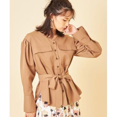 tocco closet / ポケット付きツイルシャツ羽織り WOMEN トップス > シャツ/ブラウス