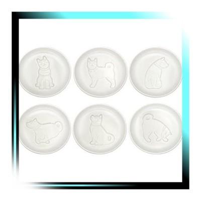 イヌ イヌ 醤油皿 ホワイト 直径9cm ZZ000143 6個セット