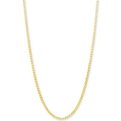 """イタリアン ゴールド ネックレス・チョーカー・ペンダントトップ アクセサリー レディース Curb Link Chain 22"""" Necklace (2-1/3mm) in 10k Gold Yellow Gold"""