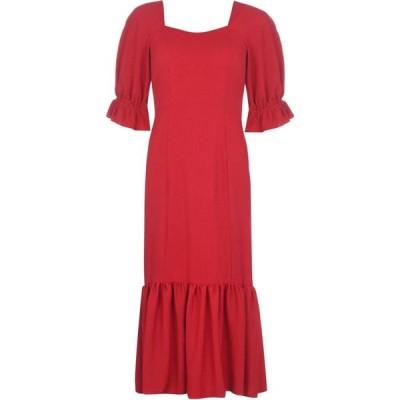 ビバ Biba レディース ワンピース ワンピース・ドレス Square Neck Linen Dress Red