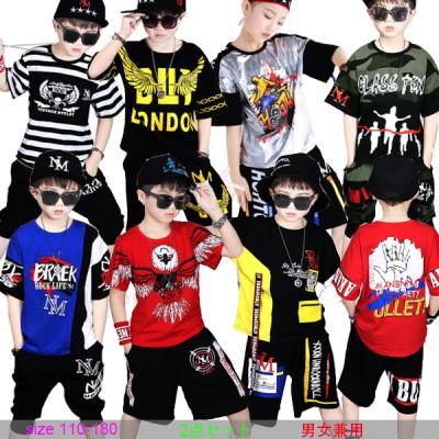 夏の韓国のファッション 子供服 キッズ ヒップホップ ダンス衣装 ダンスウェア  男の子 トップス サルエルパンツ ジュニア ジャージ セットアップ HIPHOP ジャズダンス ジャズ ストリート