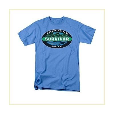 Trevco メンズ 邪悪なTシャツメンズ半袖SURVIVOR BORNEO TシャツTシャツ Mサイズ カロライナブルー