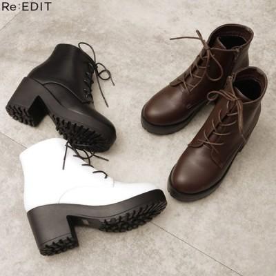 ブーツ レディース ショートブーツ 靴 マウンテンブーツ キャタピラーソール ワークスタイル