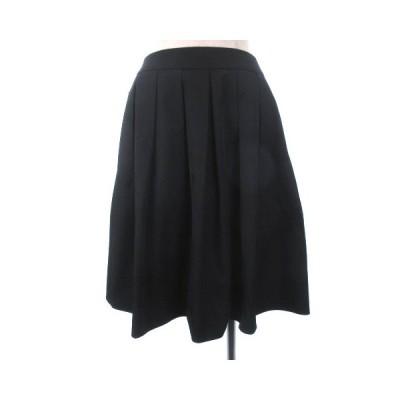 【中古】m's select フレア スカートミニ丈 シンプル 無地 38 黒 ブラック IBS77 レディース 【ベクトル 古着】