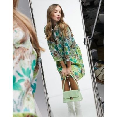 リカリッシュ ミディドレス レディース Liquorish mini shirt dress in tiger print  エイソス ASOS sale