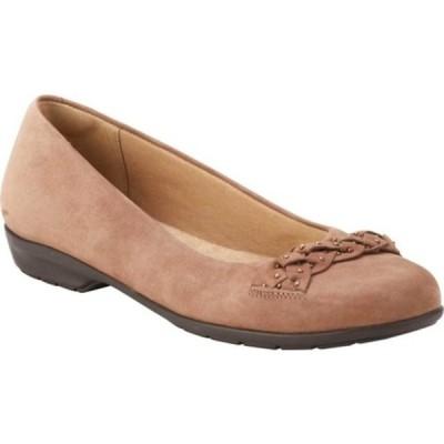ウォーキング クレイドル サンダル シューズ レディース Francesca Ballet Flat (Women's) Warm Taupe Nubuck Leather