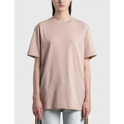 ロエベ Loewe レディース Tシャツ トップス anagram embroidered t-shirt Pale Salmon