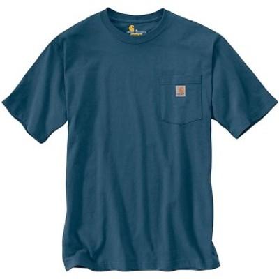 (取寄)カーハート メンズ ワークウェア ポケット ショートスリーブ T シャツ Carhartt Men's Workwear Pocket SS T Shirt Stream Blue
