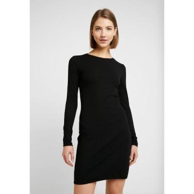 エブンアンドオッド ワンピース レディース トップス JERSEYKLEID BASIC - Shift dress - black