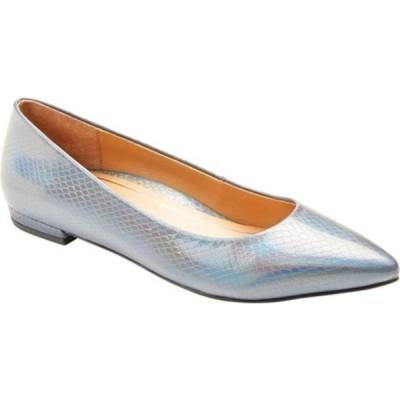 バイオニック サンダル シューズ レディース Lena Pointed Toe Ballet Flat (Women's) Iridescent Snake Metallic/Leather