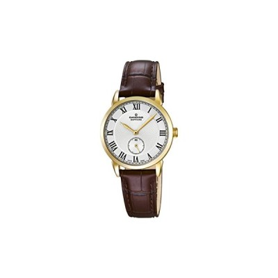 Candino Women's Quartz Watch with White Dial Analogue Display and Brown Leather Strap C4594/2 並行輸入品