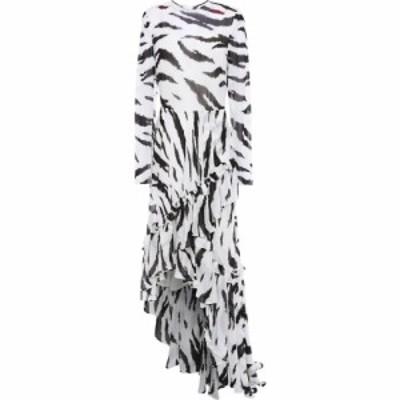 フィロソフィ ディ ロレンツォ セラフィニ PHILOSOPHY di LORENZO SERAFINI レディース ワンピース asymmetric ruffled zebra-print chif