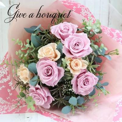 母の日 プレゼント 花 プリザーブドフラワー 花束 ブーケ バラ 誕生日 お祝い 30代 40代 50代 60代 ギフト 贈り物 退職祝い お見舞い 「バラの花束」