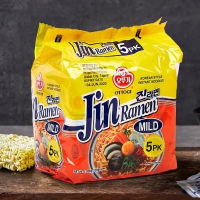 [オットギ] ジンラーメン マイルド味/ 120g×5個入りパック 韓国ラーメン インスタントラーメン