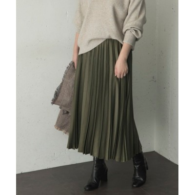 URBAN RESEARCH ROSSO WOMEN / サテンプリーツスカート WOMEN スカート > スカート