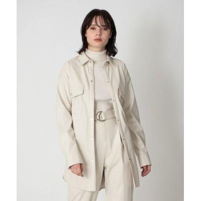 【ラブレス】 シンセティックレザー CPOジャケット レディース オフホワイト 34 LOVELESS