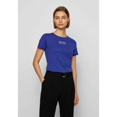 ボス レディース Tシャツ トップス Print T-shirt - dark purple dark purple