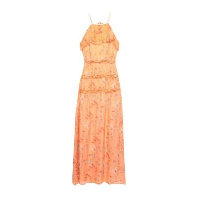INTROPIA ロングワンピース&ドレス オレンジ 34 100% レーヨン ロングワンピース&ドレス