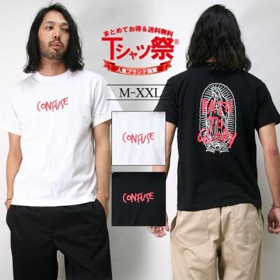 Tシャツ メンズ 半袖 マリア バックプリント ロゴ ワーク バイカー ブランド 人気 アメカジ かっこいい 大きいサイズ XL XXL 2XL 3L 黒 ブラック 白 ホワイト
