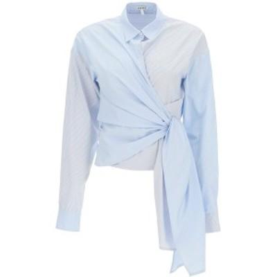LOEWE/ロエベ Mixed colours Loewe striped asymmetric shirt レディース 春夏2021 S540Y07X35 ik